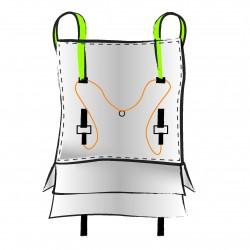 Lot 10 Big Bag neuf 90x90x80, SWL: 1250 kg, OT avec bandes fluorescentes / OT + sécutité