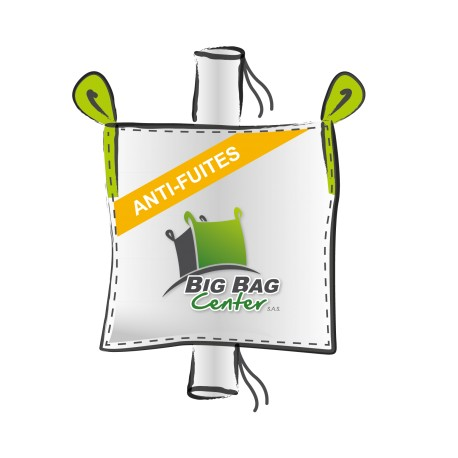 Lot 10 Big Bag neuf 90x90x115, SWL: 1500 kg, GR+GV