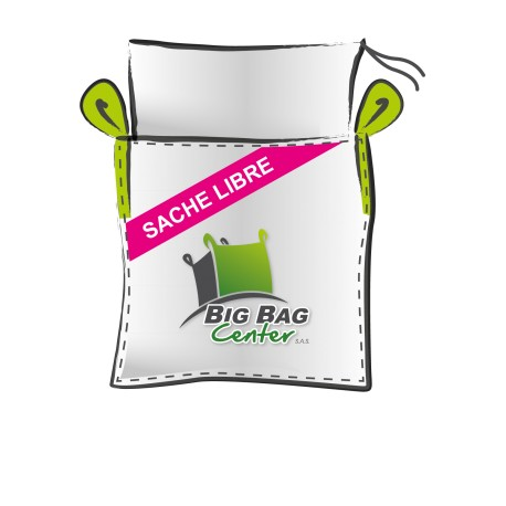 Lot 10 Big Bag neuf 90x90x120, SWL: 1500 kg, JR+FP+SI, sache libre