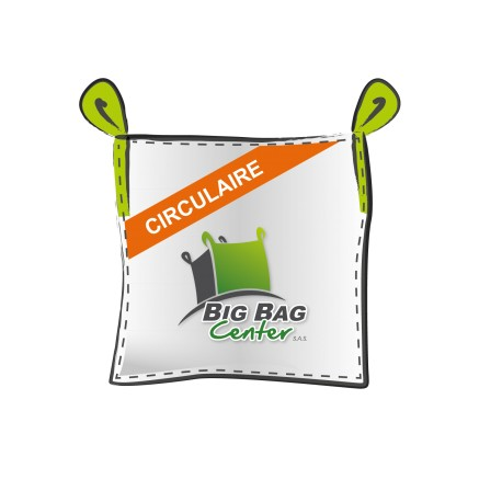 Lot 10 Big Bag neuf 95X95X180, SWL: 1250 kg, ouverture t / fond plat, U-PANEL, circulaire