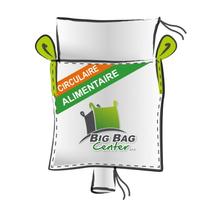 Lot 10 Big Bag neuf 90x90x150, SWL: 1500 kg, JR+GV, alimentaire, circulaire