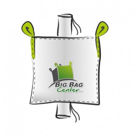 LOT de 10 BIGBAGS Occasion 90x90x180, SWL: 1000 kg, GR+GV + SACHE INTERNE