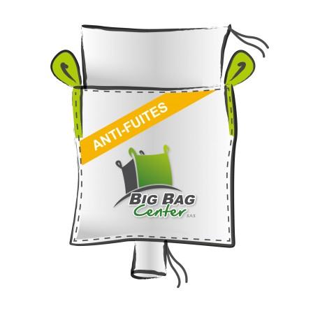 Lot 10 Big Bag neuf 95x95x150, SWL: 1500 kg, JR+GV, anti-fuites