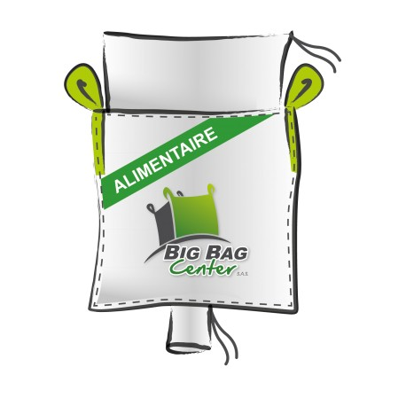 Lot 10 Big Bag neuf 91x91x160, SWL: 1250 kg, JR+GV, alimentaire