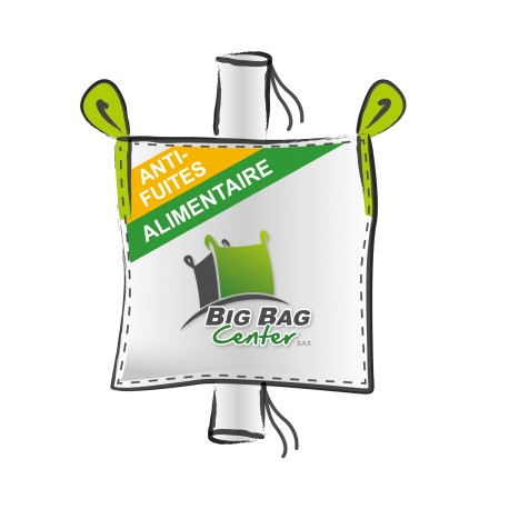 Lot 10 Big Bag neuf 91x91x170, SWL: 1500 kg, GR+GV, anti-fuites, alimentaire
