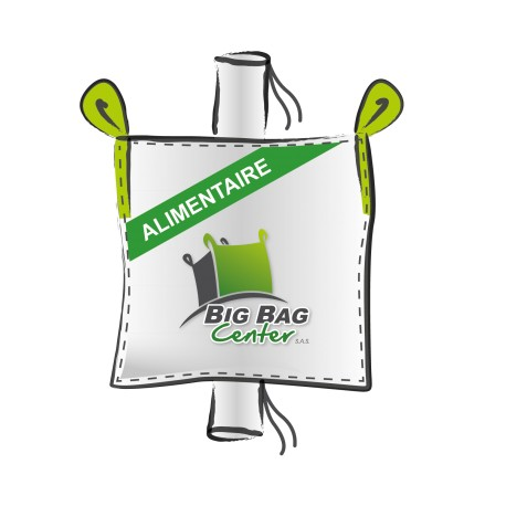 Lot 10 Big Bag neuf 90x90x120, SWL: 1000 kg, GR+GV, alimentaire
