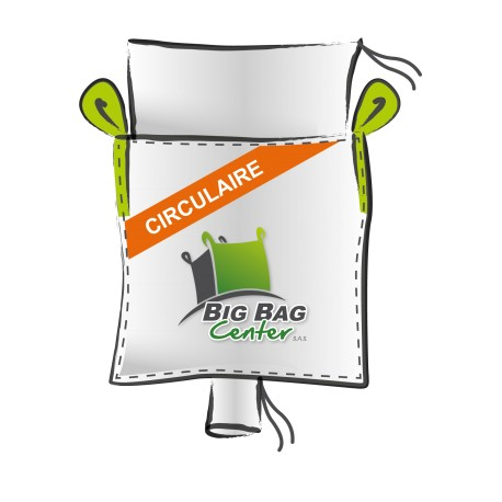 Lot 10 Big Bag neuf 95x95x200, SWL: 1250 kg, JR+GV, circulaire