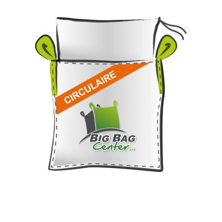 Lot 10 Big Bag neuf 97x97x220, SWL: 1250 kg, JR+FP, circulaire