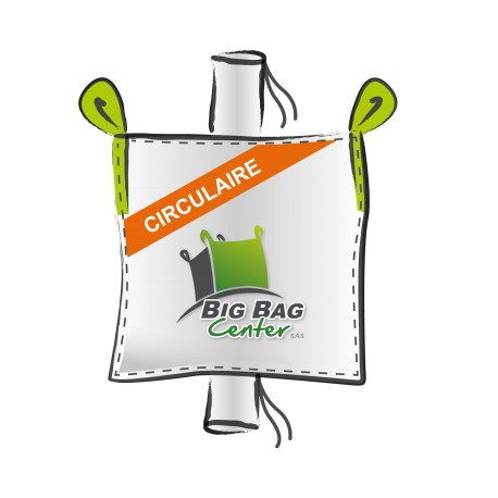Lot 10 Big Bag neuf 95x95x235, SWL: 1250 kg, GR+GV, circulaire