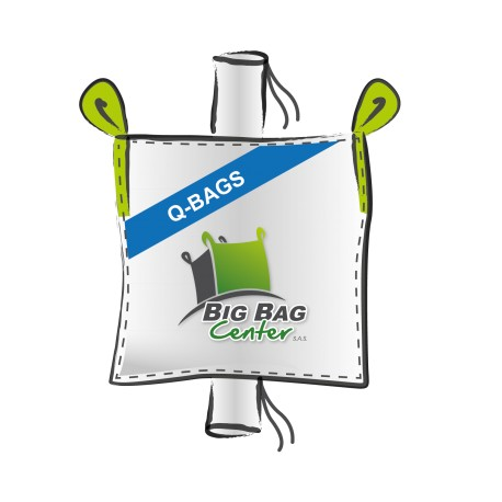 Lot 10 Big Bag neuf 93x113x180, SWL: 1500 kg, GR+GV, Q BAG