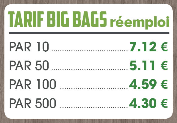 Tarif big bag d'occasion